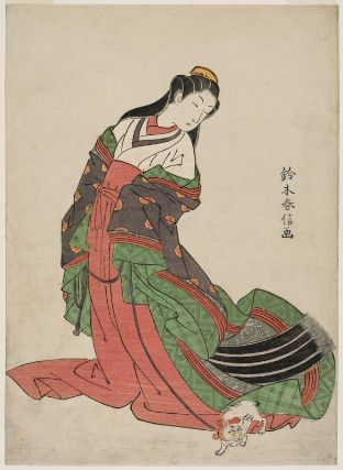 Third Princess Nyosan-no-Miya and her Cat Edo Period 1769-1770 Suzuki Harnobu Museum of Fine Arts, Boston, cats in asian art