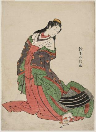 Third Princess Nyosan-no-Miya and her Cat Edo Period 1769-1770 Suzuki Harnobu Museum of Fine Arts, Boston, cats in asian art