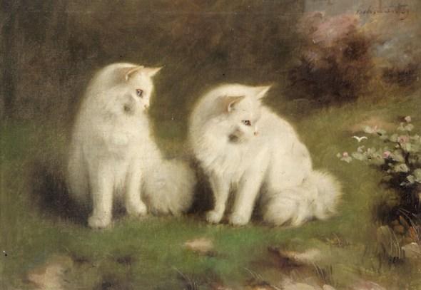 cats in art, beno boleradszky
