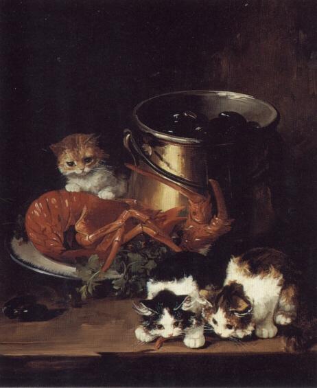 Kittens, Lobster and Mussels Brunel de Neuville