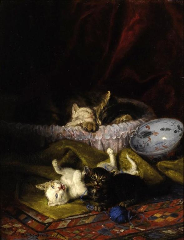 Kittens Playing de Neuville