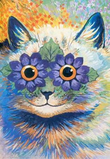 Early Indian-Irish Cat Louis Wain cats in art