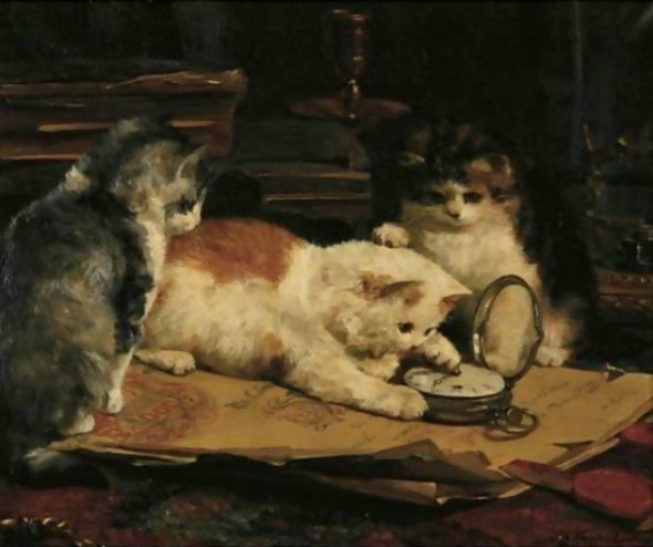 Time on their Paws, Charles Van den Eycken Private Collection