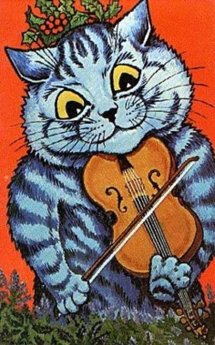 Cat and Fiddle Louis Wain cats in art