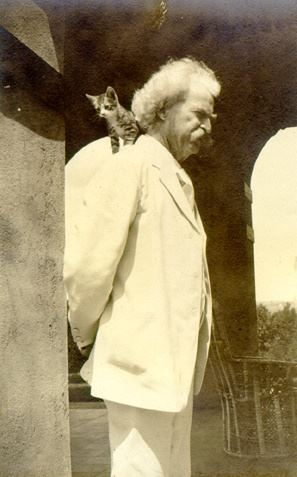 Mark Twain and Kitten cats and writers