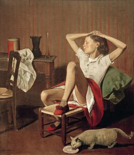 Thérèse Dreaming, 1938 Balthus' Cats
