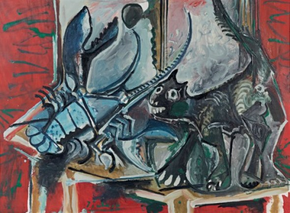 Chat et homard (Cat and Lobster) Picasso cats