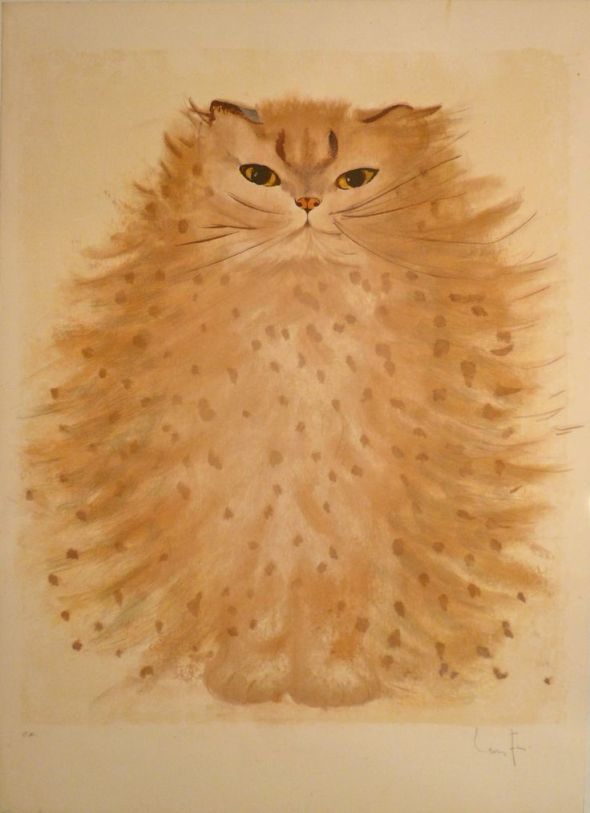 Cat Lithograph in color 1980