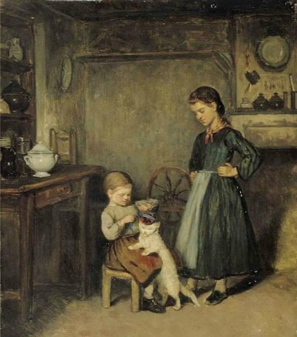 Adolf von Becker (Finnish, 1831-1909) A French Interior 1868