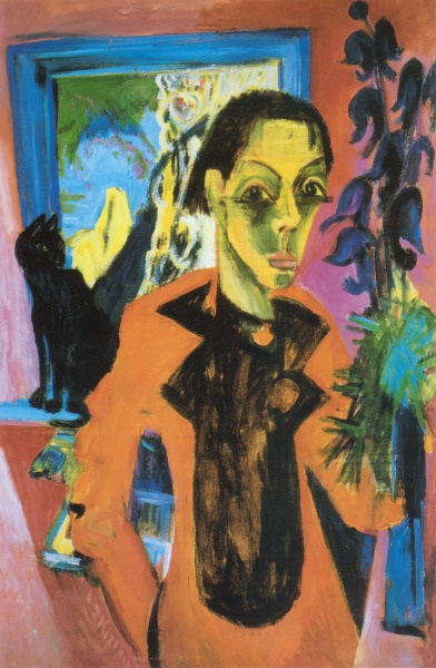 Ernest Ludwig Kirchner, cats in art
