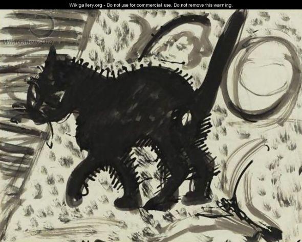 Ernst Ludwig Kirchner, Katze, cats in art