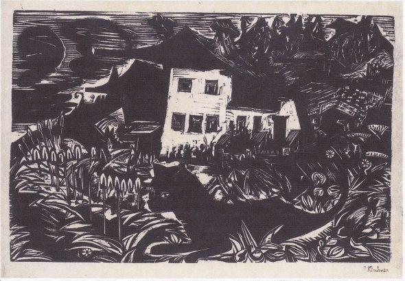 Ernst Ludwig Kirchner Weisses Haus in den Wiesen 1920