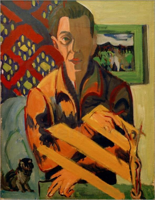 Kirchner Selbstbildnis Self portrait