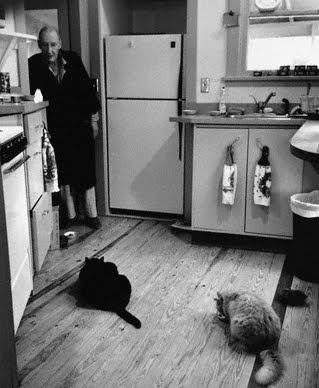 William S. Burroughs and his cats