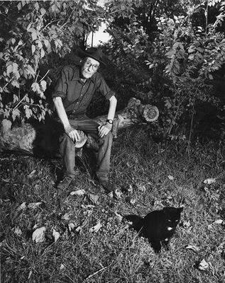 William S. Burroughs and cat
