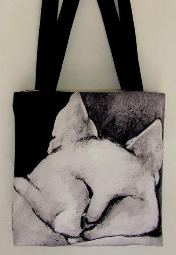 Bliss Sleeping Art Bag, cats, cat products, cat bags, cat purses