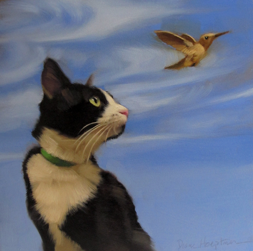 Fly Away Diane Hoeptner cat paintings, cats in art