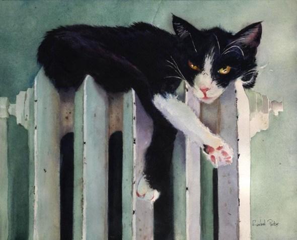 Toasty Tuxedo, Tuxedo cats in art