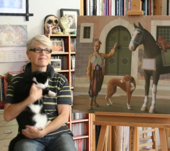 Jane Lewis, cats in art, cats in paintings