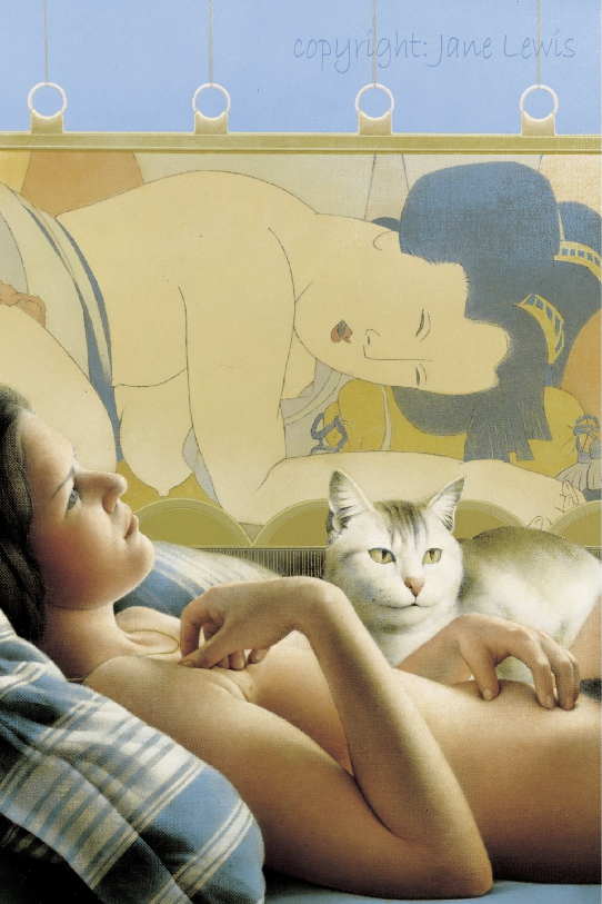 Jane Lewis, Japanese Blind, cats in art, cats and women