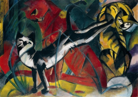 Franz Marc Three Cats 1913