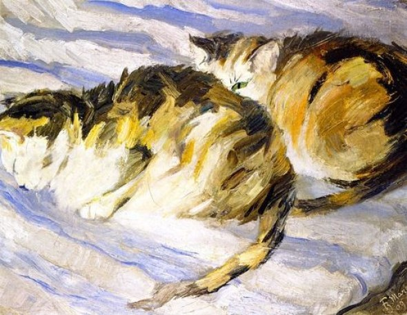 Franz Marc Study of Cats 1909