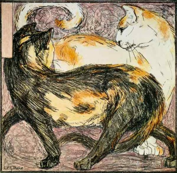 Franz Marc Two Cats 1909