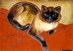 Chat Siamois, cat art