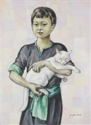 Le Petit indochinois au chat blanc, Lehmann Nam
