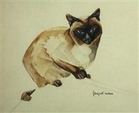 Siamese cats in art