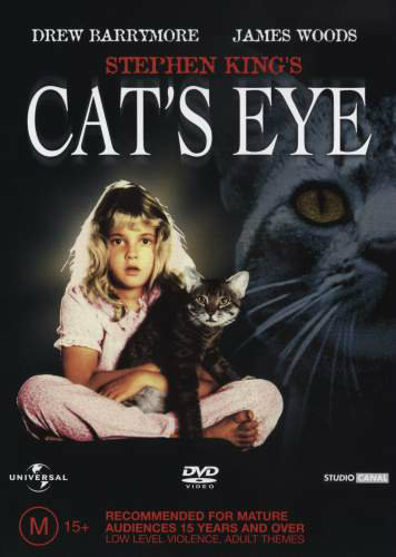 Cat's Eye movie poster, Stephen King cats, cats in film