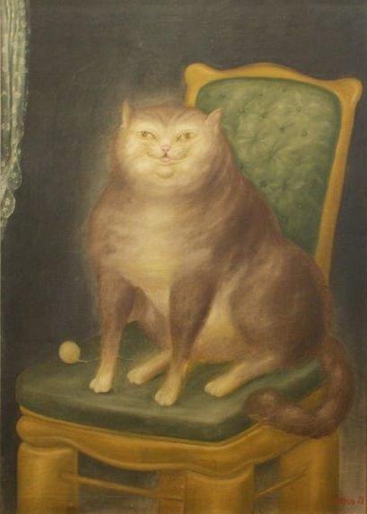 F. Botero, El Gato, The Cat, cats in art