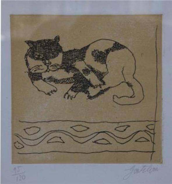 Gentilini, Cat Lying down