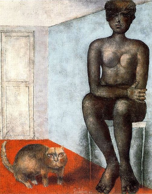 Gentilini, Franco (1909-1981) - 1964 Nude with Cat (Private Collection)