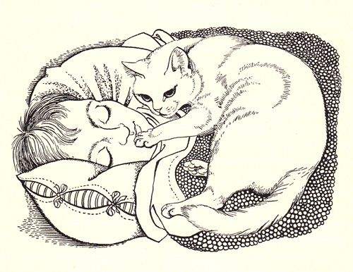 From 'A Little White Cat' by Dorothy Baker illustration by Dame Eileen Mayo