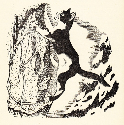 Illustration by Eileen Mayo from 'New Conquest of the Matterhorn' by T. S. Blakeney