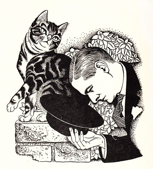 Illustration by Eileen Mayo from 'The Ad-Dressing of Cats' by T. S. Eliot