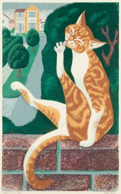 Early Morning, Eileen Rosemary Mayo, cat illustrations