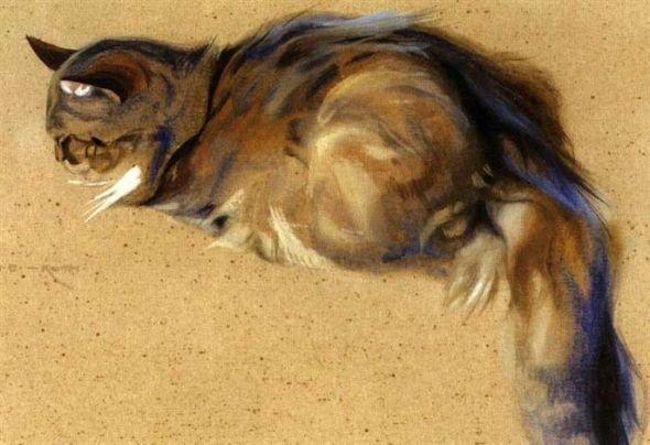 Norbertine von Bresslern-Roth, cat art, cat illustration