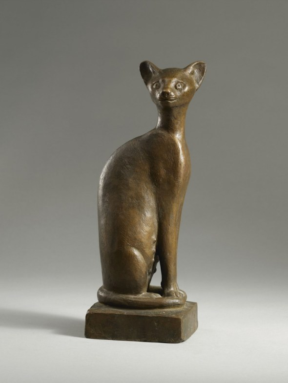 G. Marcks Pregnant Seated Cat 1965