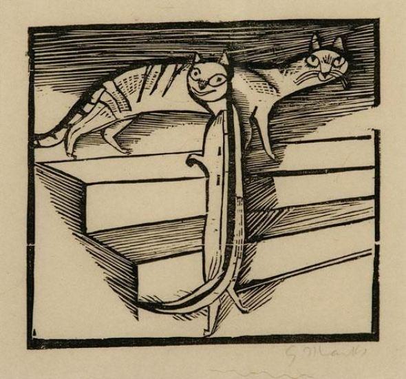 G Marcks Die Kleinen Katzen (The Little Cats) 1922, cats in art