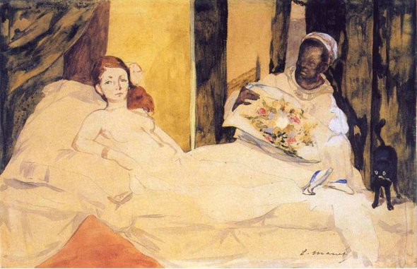Olympia 1863, Edouard Manet, cats in art