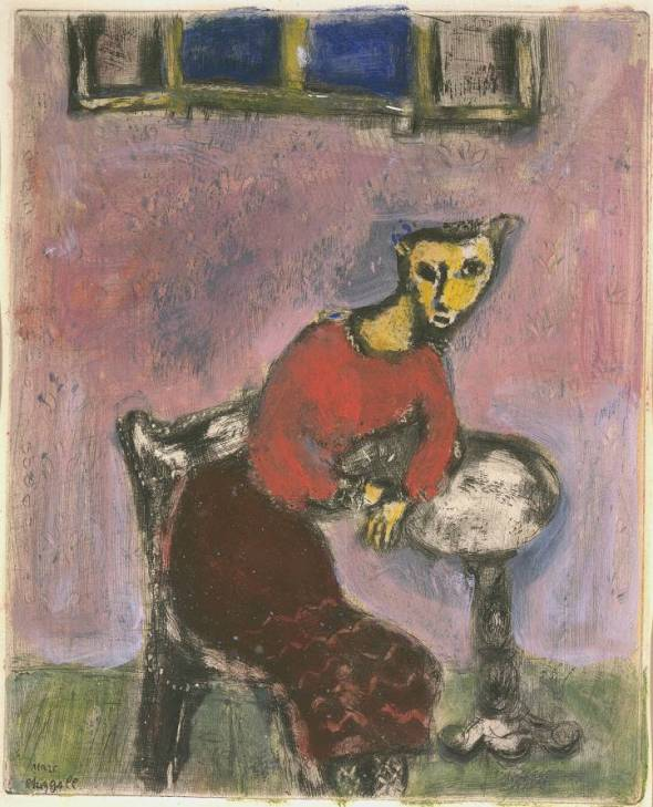 The Cat Transformed into a Woman c.1928 Chagall