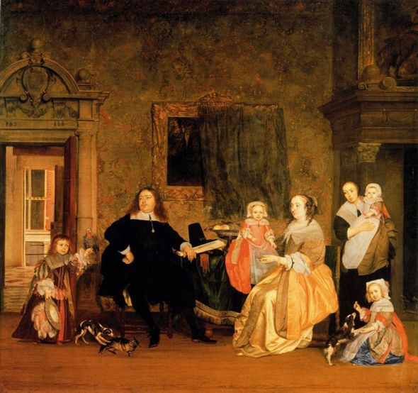 Burgomaster Gillis Valckenier and his Family, G. Metsu