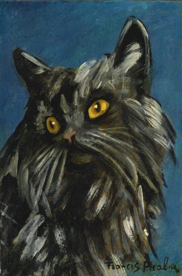 FRANCIS PICABIA (1879-1953) - CHAT NOIR (c. 1940-1942)