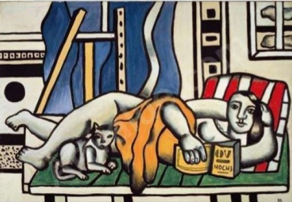 Fernand Leger Woman and Cat 1955