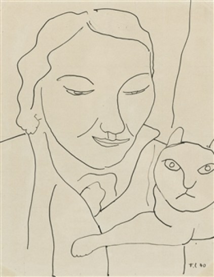 F. Leger Woman and Cat 1946