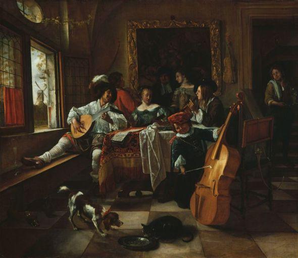 The Family Concert, 1666 Jan Steen