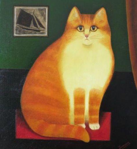 Big Orange Cat, Martin Leman, art cats