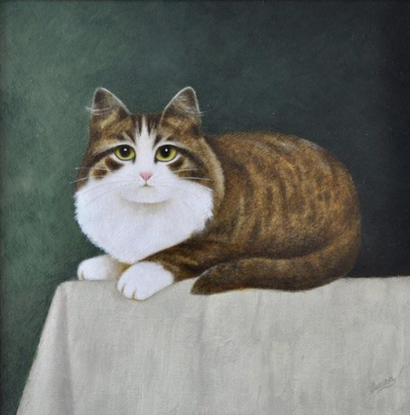 Brown and White cat Martin Leman